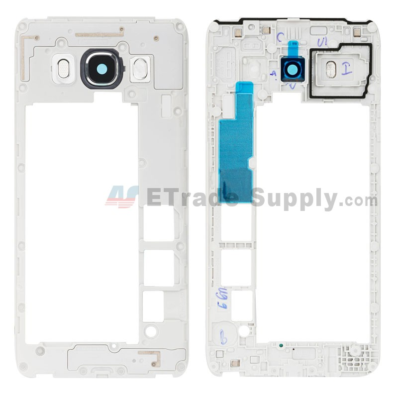 For Samsung Galaxy J5 (2016) SM-J510F Rear Housing Replacement (Single SIM  Card Version) - Black - Grade S+