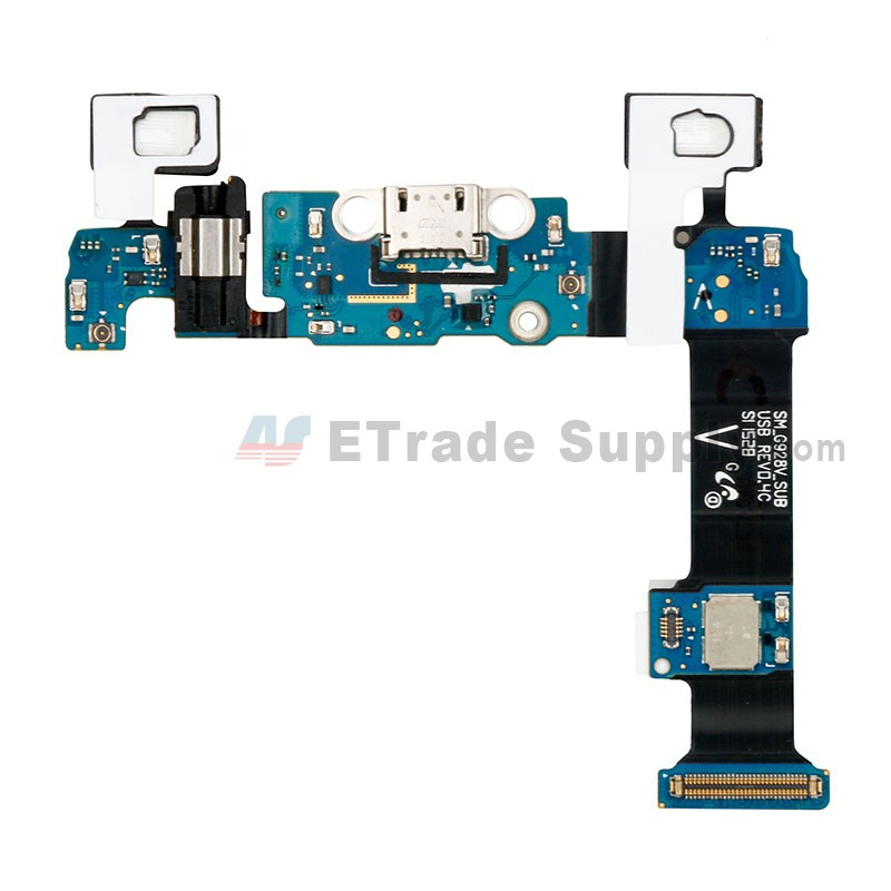 For Samsung Galaxy S6 Edge Plus SM-G928V Charging Port Flex Cable Ribbon  With Sensor Replacement - Grade S+
