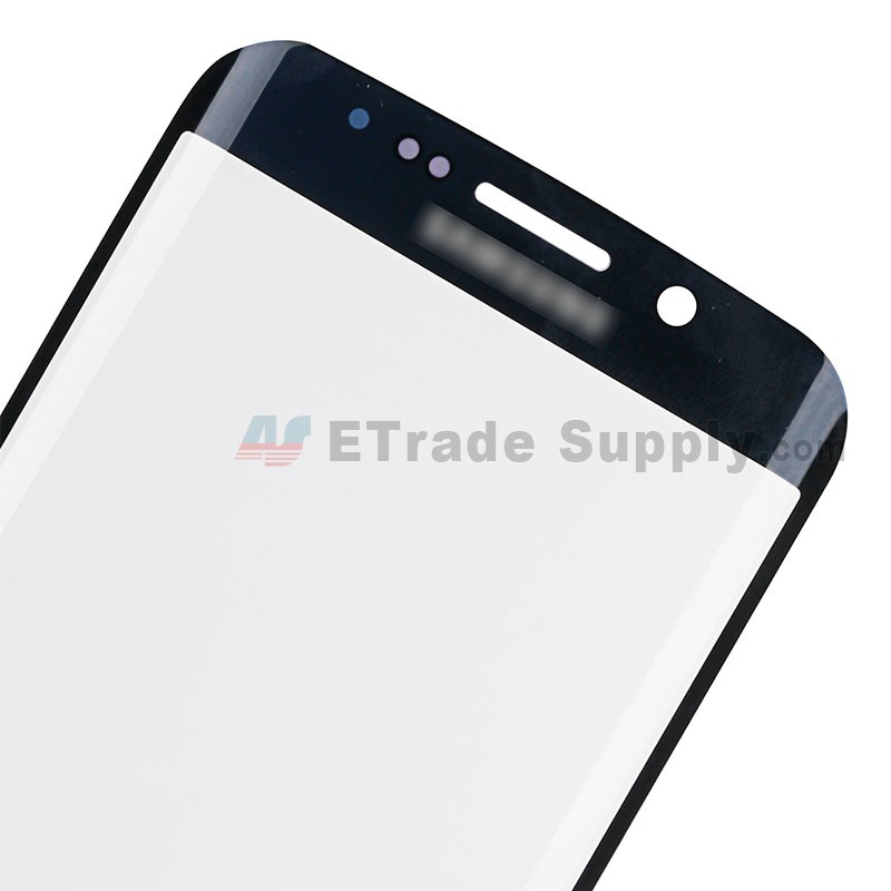For Samsung Galaxy S6 Edge  SM-G925V/G925P/G925R4/G925T/G925W8/G925I/G925F/G925A Glass Lens Replacement  - Sapphire - With Logo - Grade S+