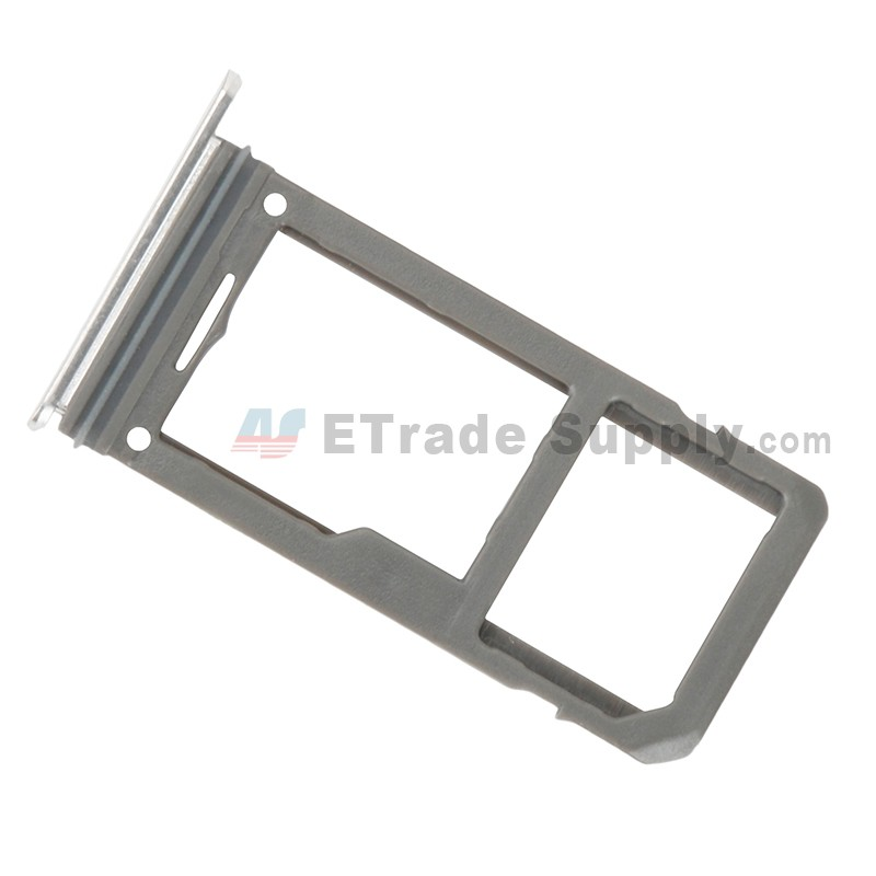 For Samsung Galaxy S8 G950U/G950A/G950V/G950T/G950P/G950F SIM Card Tray  Replacement - Silver - Grade S+