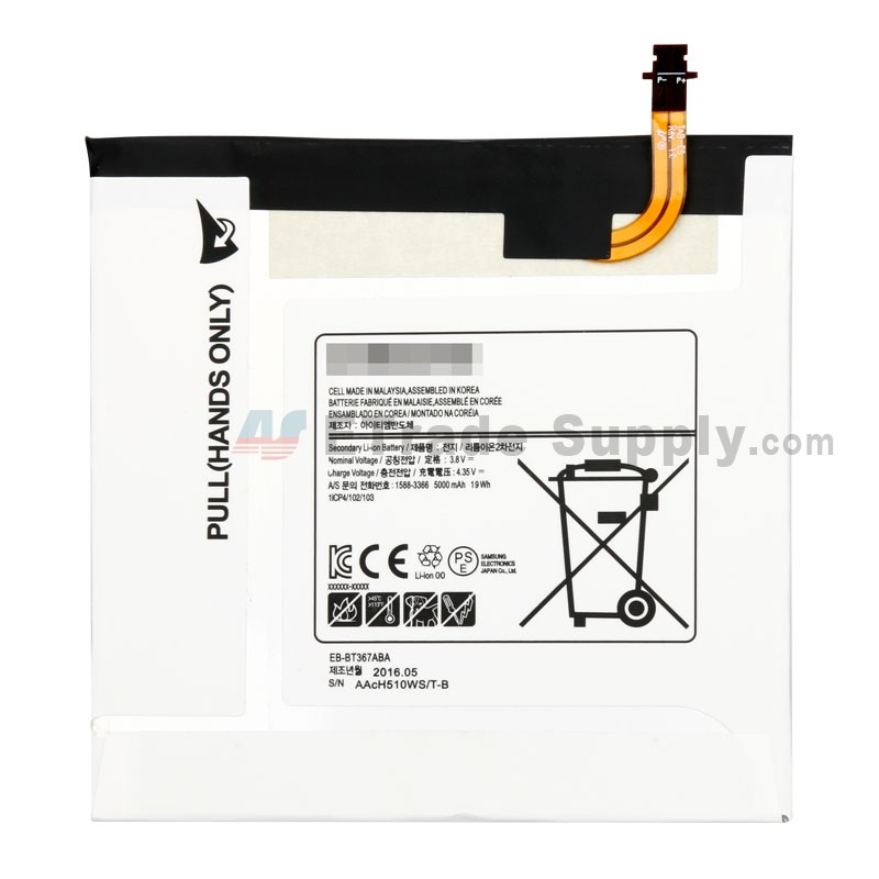 SM-T360UD 4700mAh Replacement for Samsung SM-T360NNGAXAR SM-T365 P//N EB-BT365BBC EB-BT365BBE EB-BT365BBU SM-T365 Galaxy Tab Active LTE Battery