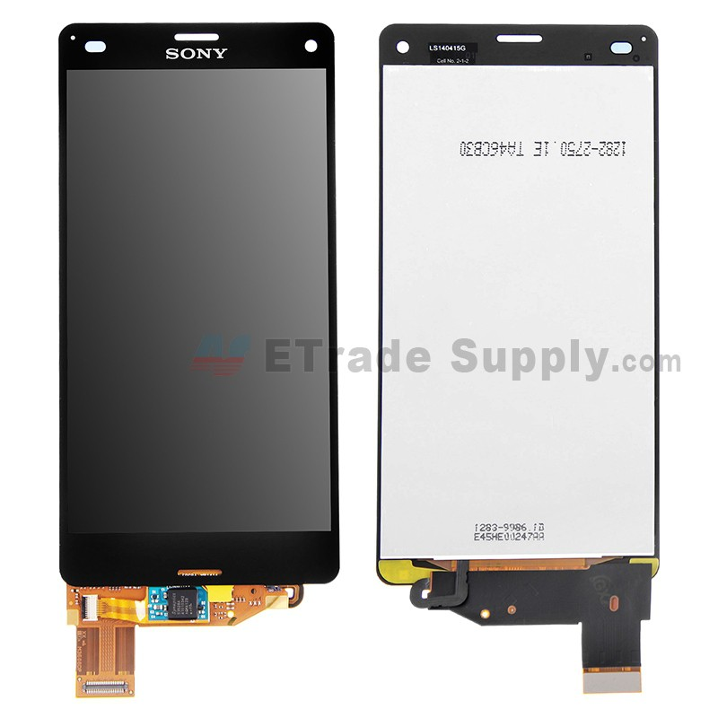 sony xperia z3 compact lcd assembly black etrade supply. Black Bedroom Furniture Sets. Home Design Ideas