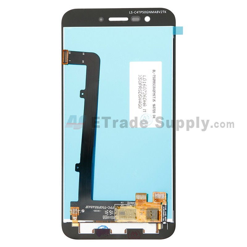 For VODAFONE Smart Prime 7 VFD 600 LCD Screen and Digitizer Assembly  Replacement - Black - Without Logo - Grae S+