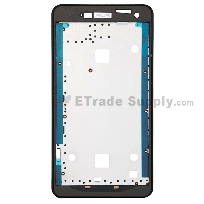 for zte blade l3 front housing replacement black grade. Black Bedroom Furniture Sets. Home Design Ideas