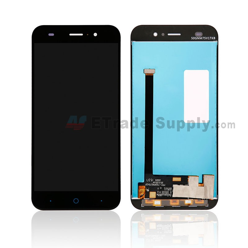 For ZTE Blade V6 LCD Screen and Digitizer Assembly Replacement - Black -  Without Any Logo - Grade S+