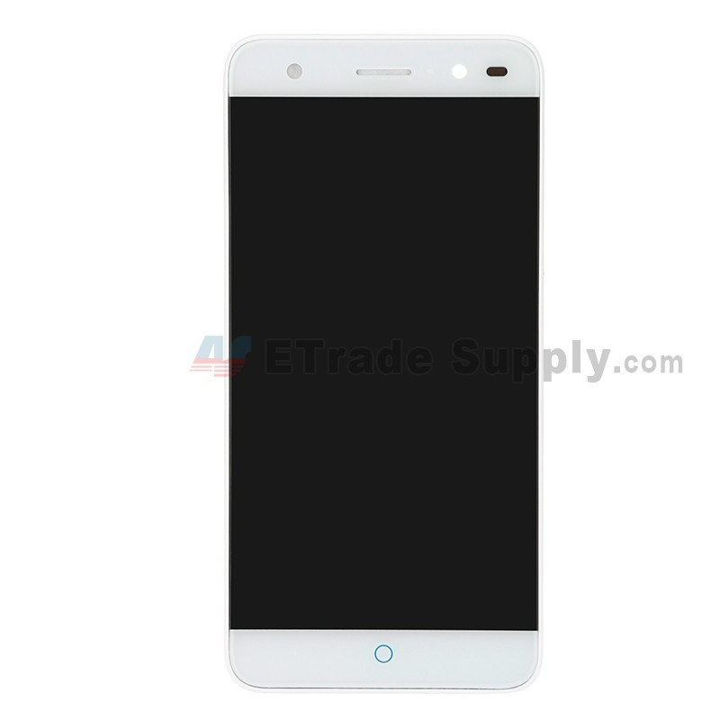 For ZTE Blade V7 Lite LCD Screen and Digitizer Assembly with Front Housing  Replacement - White - Without Any Logo - Grade S+