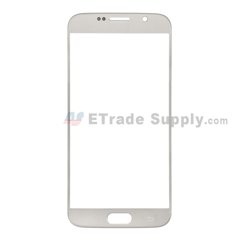 For Samsung Galaxy S6 Samsung-G920/G920A/G920P/G920R4/G920T/G920F/G920V  Glass Lens Replacement - Gold - Without Logo - Grade R