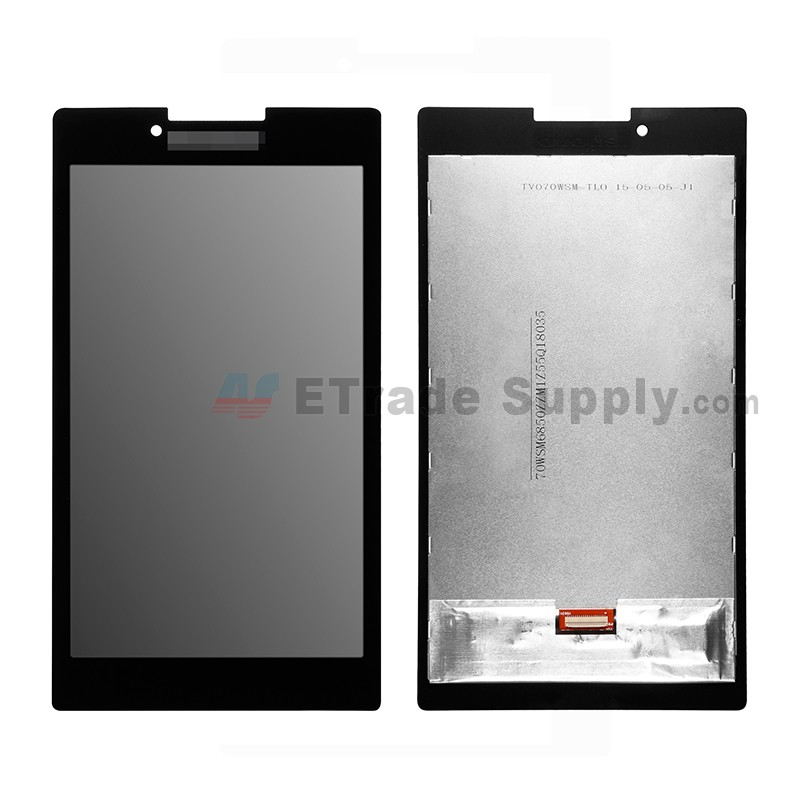 For Lenovo Tab 2 A7-30 LCD Screen and Digitizer Assembly Replacement -  Black - With Logo - Grade S+