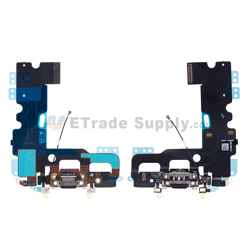buy online dd136 aea70 For Apple iPhone 7 Charging Port Flex Cable Ribbon Replacement - Black -  Grade S+
