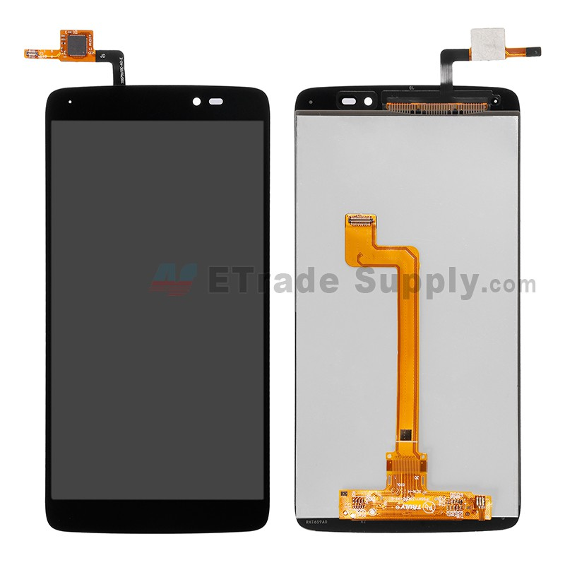 For Alcatel One Touch Idol 3 LCD Screen and Digitizer Assembly Replacement  (5 5 Inches) - Black - Without Any Logo - Grade R