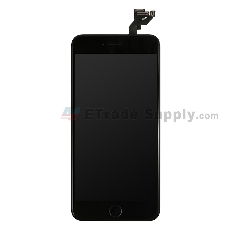 lowest price c4568 61d97 For Apple iPhone 6S Plus LCD Screen and Digitizer Assembly with Frame and  Home Button Replacement - Black - Grade R