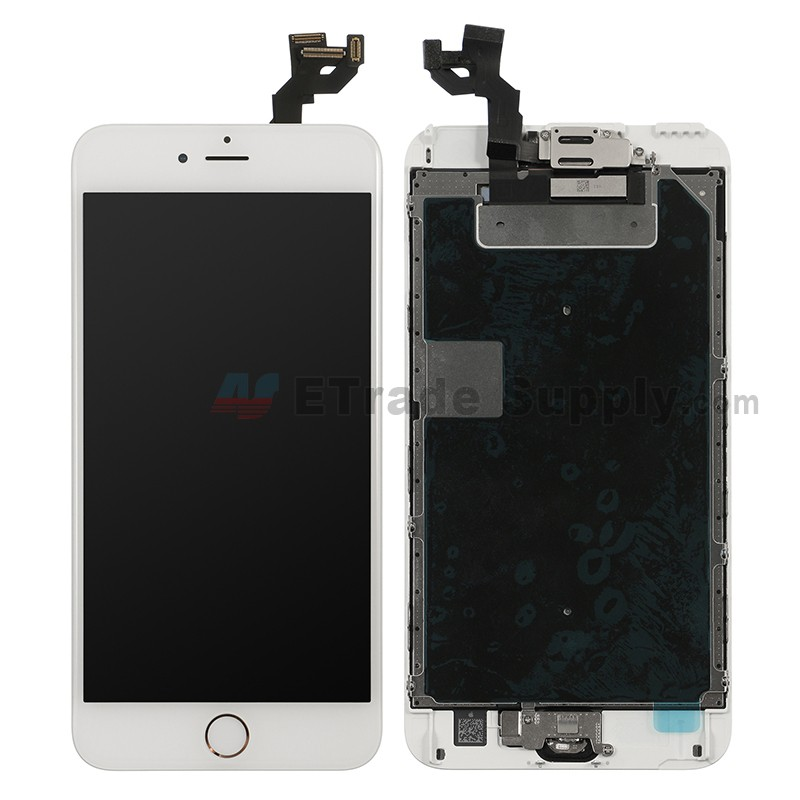 For Apple Iphone 6s Plus Lcd Screen And Digitizer Assembly With Frame And Home Button Replacement Rose Gold Grade R