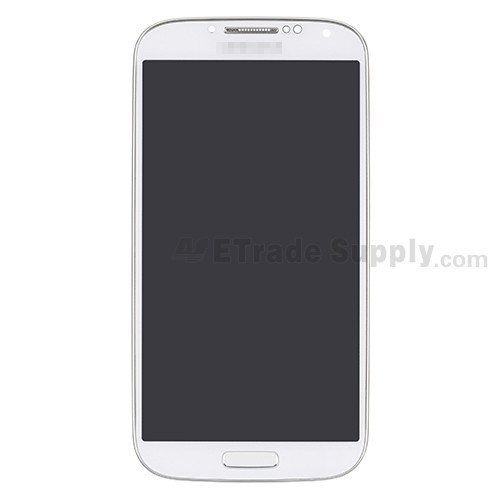 For Samsung Galaxy S4 GT-I9500 LCD Screen and Digitizer Assembly with Front  Housing Replacement - White - With Logo - Grade S+