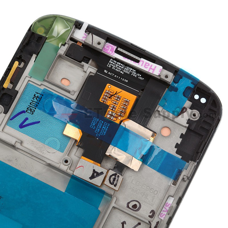 For LG Nexus 4 E960 LCD Screen and Digitizer Assembly with Front Housing  Replacement - Grade R