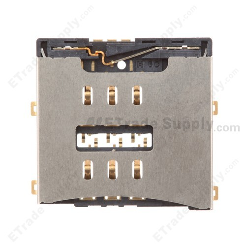 OEM Apple IPhone 4 SIM Card Reader Contact With Bracket