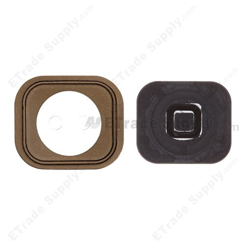 iphone 5 home button replacement apple iphone 5 home button with rubber gasket etrade supply 7366