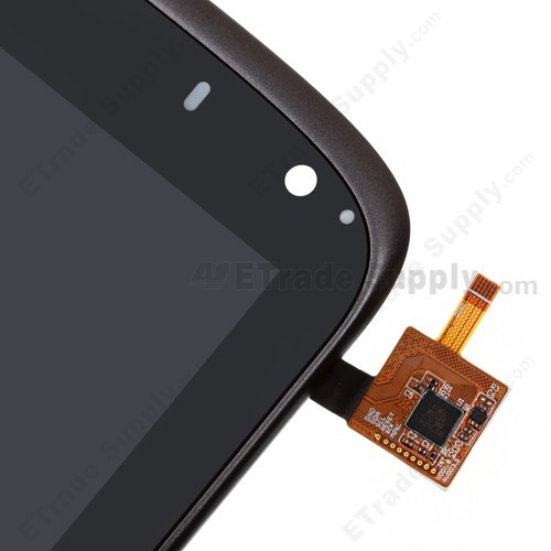 ZTE Optik Tablet V55 LCD Screen and Digitizer Assembly with Front Housing front side upper part with flex cable connector