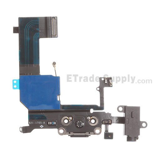 brand new 903c0 7cc57 For Apple iPhone 5C Charging Port Flex Cable Ribbon Replacement - Grade S+