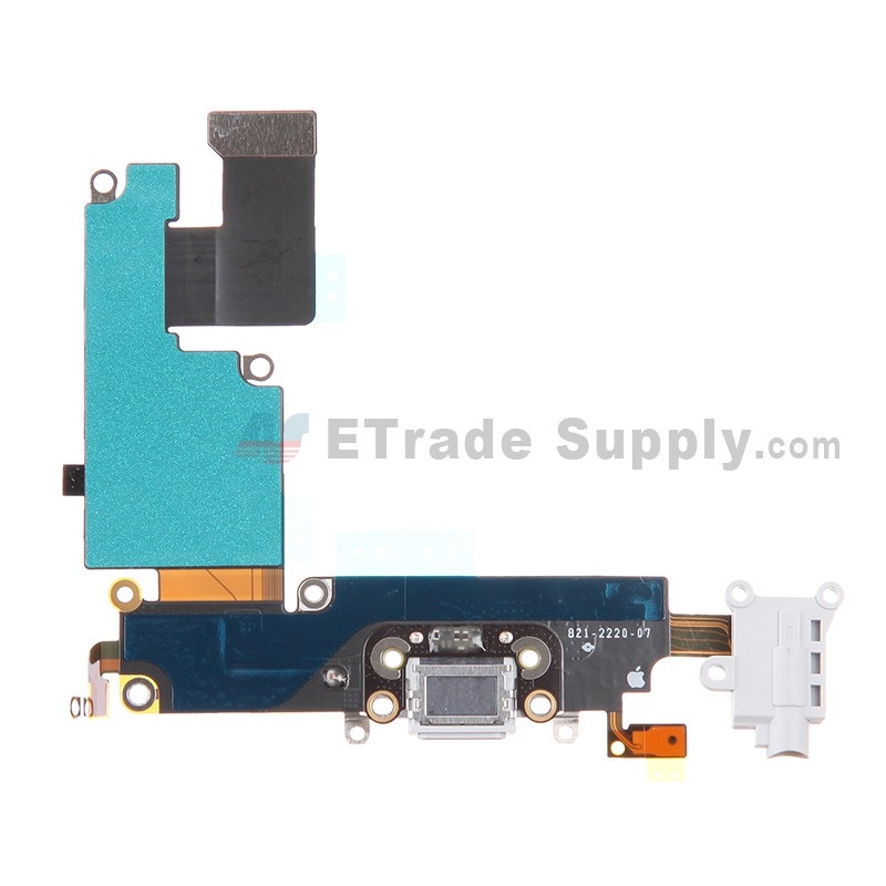 online store 8f2eb 6d2bb For Apple iPhone 6 Plus Charging Port Flex Cable Ribbon Replacement - White  - Grade S+