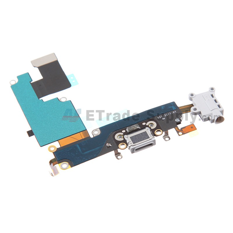 online store 24531 7c3bc For Apple iPhone 6 Plus Charging Port Flex Cable Ribbon Replacement - White  - Grade S+