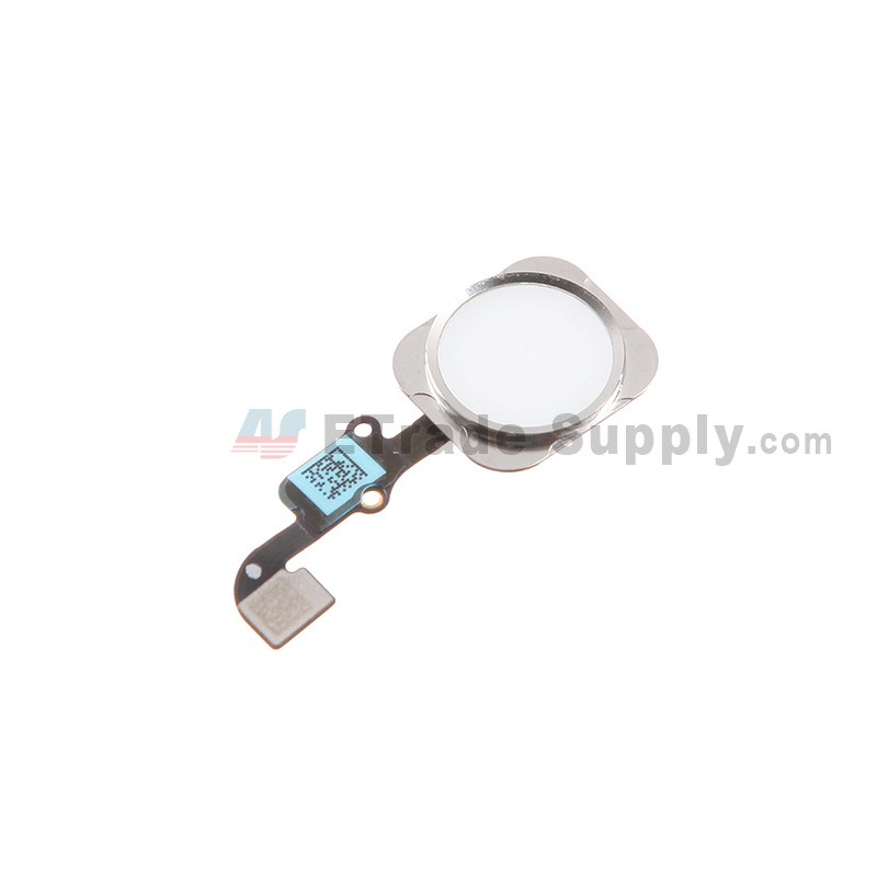 online store bc783 9e563 For Apple iPhone 6/iPhone 6 Plus Home Button Assembly with Flex Cable  Ribbon Replacement - Silver - Grade S+