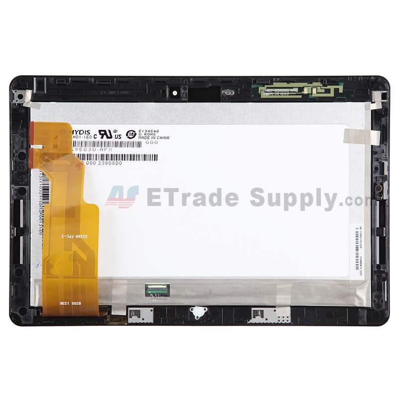 For Asus Vivo Tab RT TF600 LCD Screen and Digitizer Assembly with Front  Housing Replacement (5234) - Black - With Logo - Grade S+