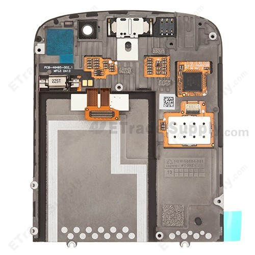BlackBerry Q10 LCD Screen and Digitizer Assembly Rear Side