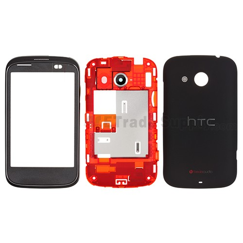 sale retailer 673e9 2c775 For HTC Desire C Complete Housing Replacement ,Black - Grade S+