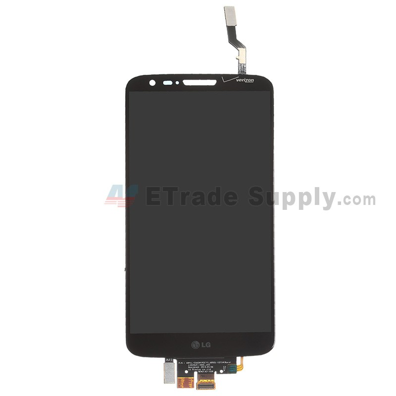 newest 742b7 0ca34 For LG G2 VS980 LCD Screen and Digitizer Assembly Replacement - Black -  With Logo - Grade S