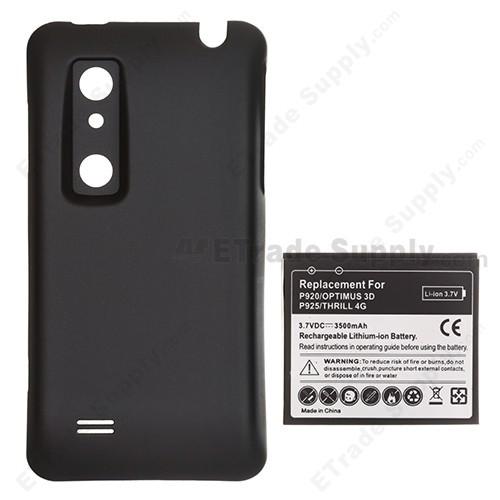lg optimus 3d p920 thrill p925 extended life battery 3500 mah rh etradesupply com
