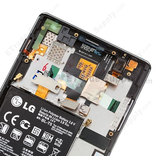 OEM LG Optimus G E970 LCD Screen and Digitizer Assembly with Front Housing and Battery