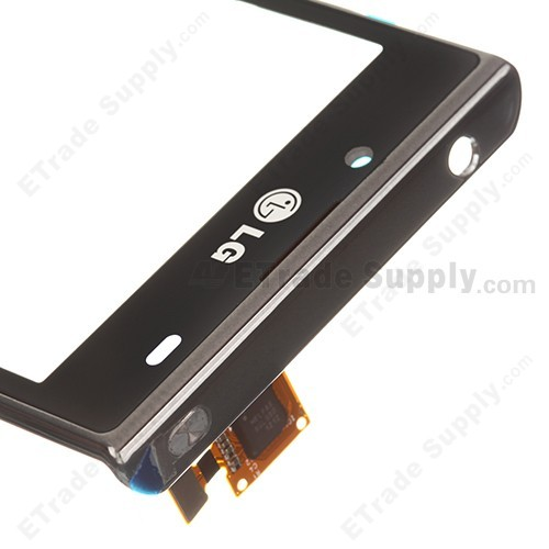 OEM LG Optimus L7 P700, P705 Digitizer Touch Screen with Front Housing ,Black