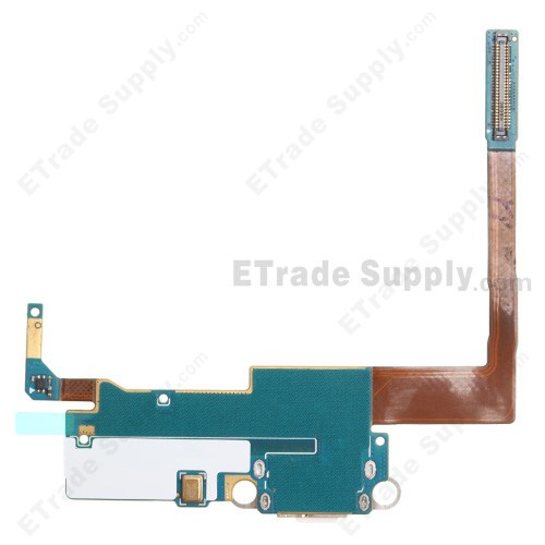 10pcs//lot Replacement Charging Flex Cable for Samsung Note3 3G N900//N9008V//S Microphone USB Port Socket Dock Connector