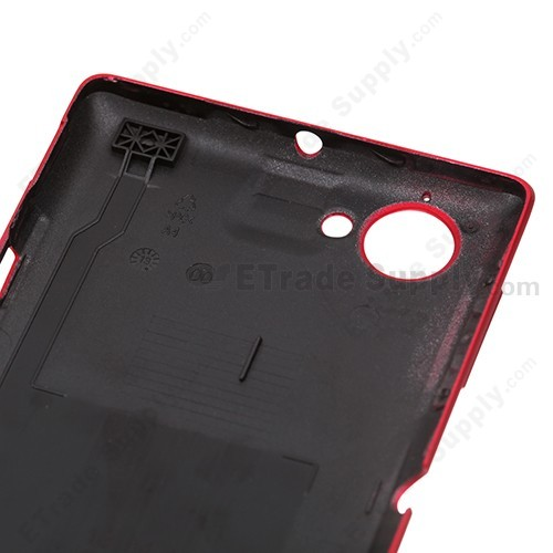OEM Sony Xperia L S36h Battery Door - Red - With Xperia Logo