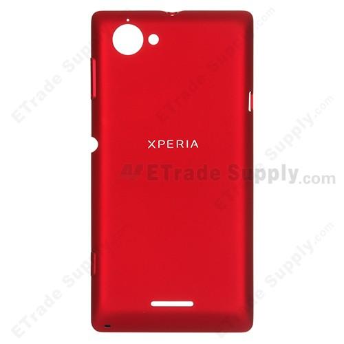 quality design d7c57 4099f For Sony Xperia L S36h C2104, C2105 Battery Door Replacement - Red - with  Logo - Grade S+