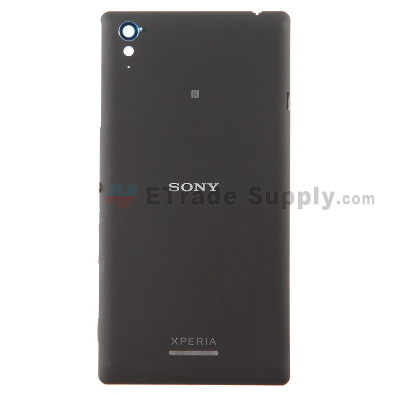 hot sale online cabce dede3 For Sony Xperia T3 Battery Door Replacement - Black - With Logo - Grade S+