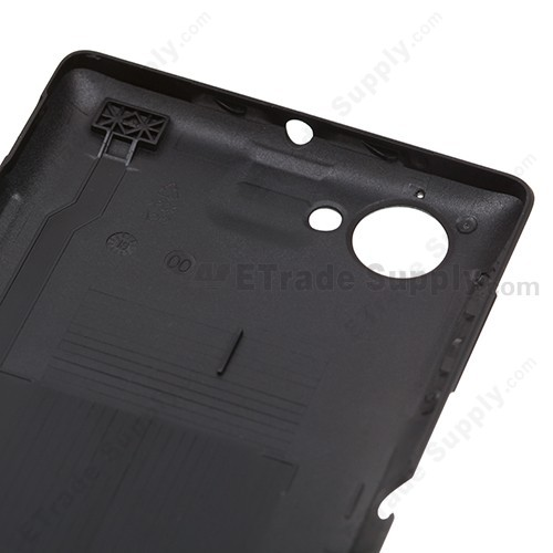 OEM Sony Xperia L S36h Battery Door - Black - With Xperia Logo