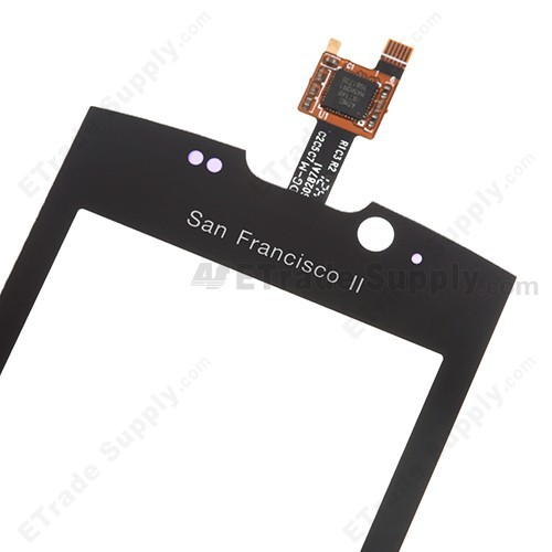 OEM ZTE Blade II V880+ Digitizer Touch Screen front side upper part with flex cable connector