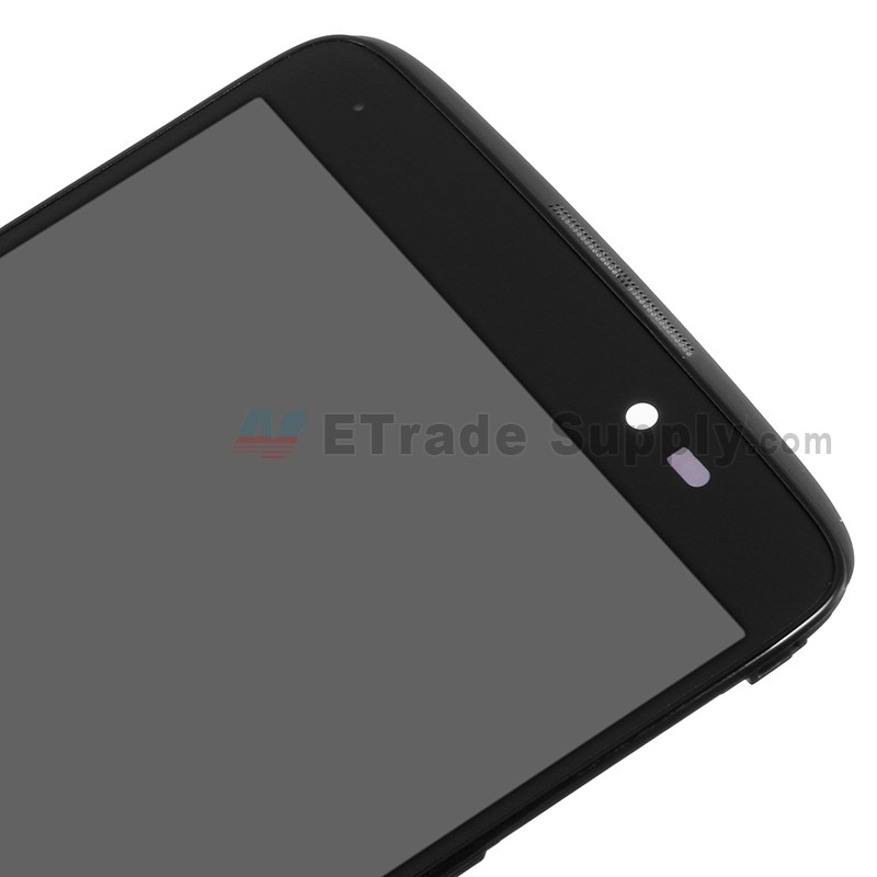 For Alcatel One Touch Idol 3 LCD Screen and Digitizer Assembly with Front  Housing Replacement (5 5 Inches) - Black - Without Logo - Grade S+