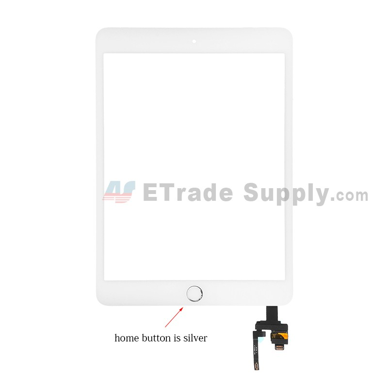 iPad Mini 3 Digitizer Replacement Screen With Home Button Black
