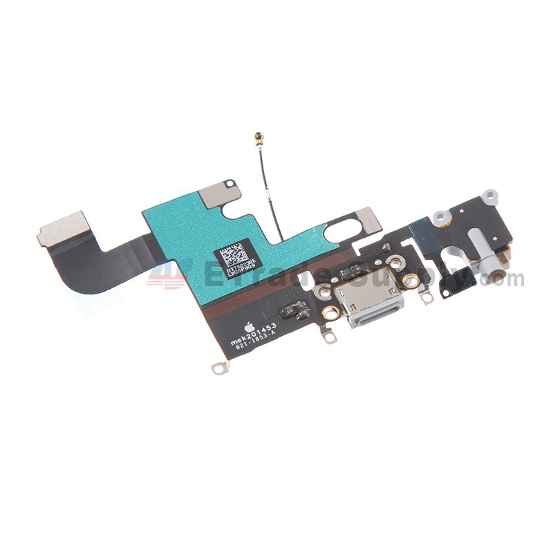 official photos e15a5 e22ec For Apple iPhone 6 Charging Port Flex Cable Ribbon Replacement - Light Gray  - Grade S+