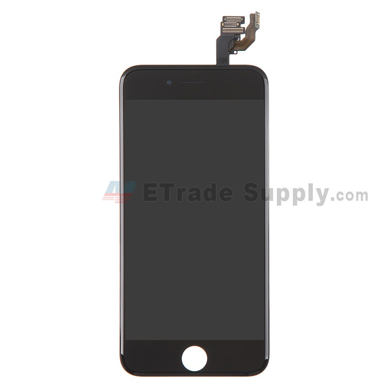 pretty nice 7f882 df497 For Apple iPhone 6 LCD Screen and Digitizer Assembly with Frame and Small  Parts Replacement (without Home Button) - Black - Grade S+