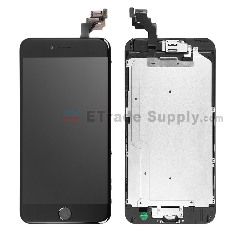 sports shoes 95233 0a8b3 For Apple iPhone 6 Plus LCD Screen and Digitizer Assembly with Frame and  Home Button Replacement - Black - Grade S+