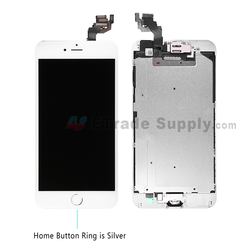 Apple Iphone 6 Plus Lcd Assembly With Frame And Home Button Silver Etrade Supply