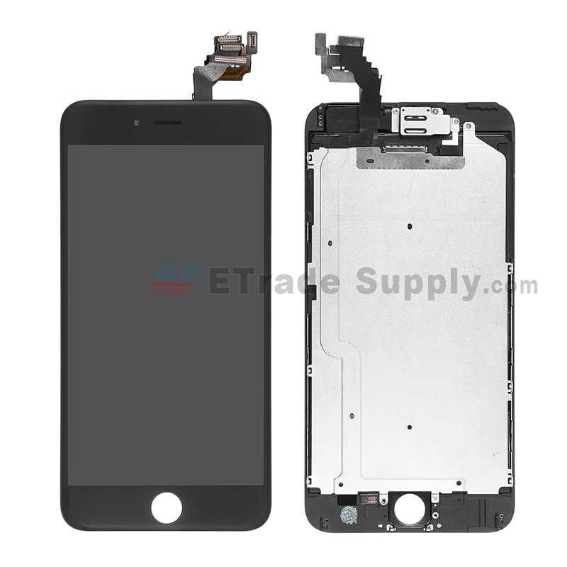 c2aee20117ee17 Apple iPhone 6 Plus LCD Assembly with Frame and Small Parts Black - ETrade  Supply