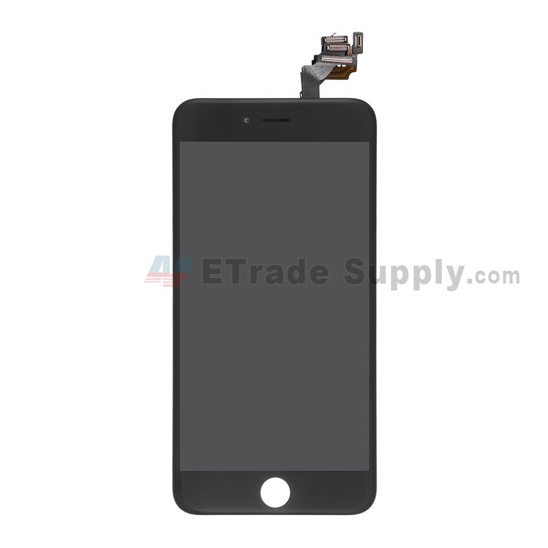 competitive price 6844b 413dd For Apple iPhone 6 Plus LCD Screen and Digitizer Assembly with Frame and  Small Parts Replacement (Without Home Button) - Black - Grade S