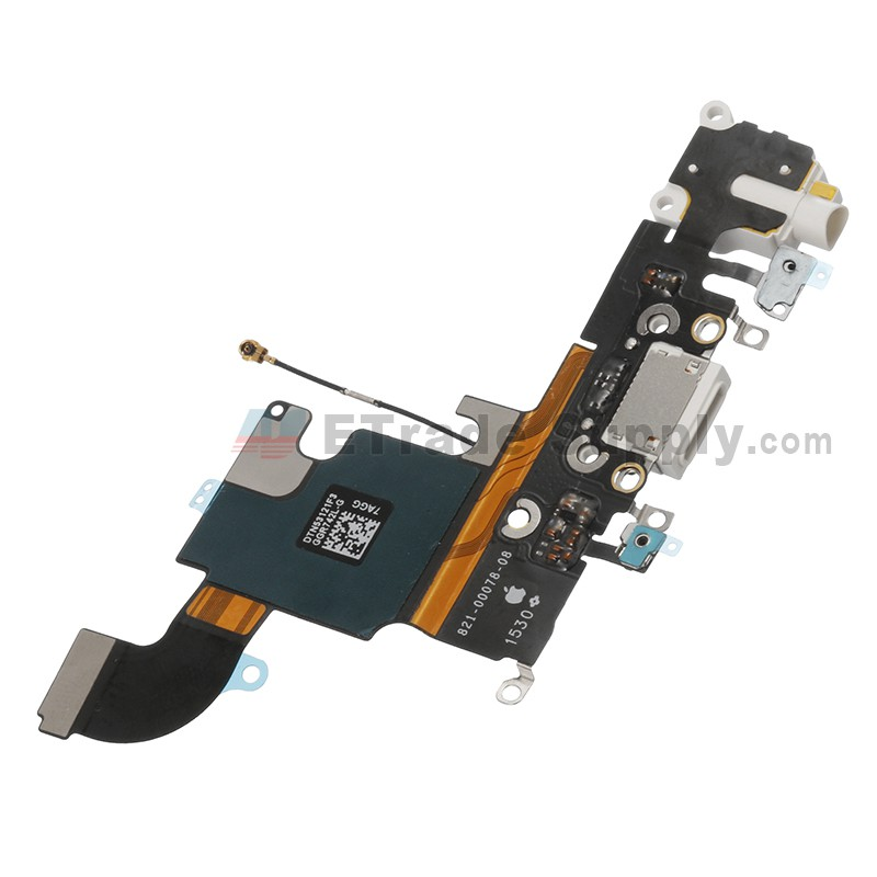 best website 1e289 30951 For Apple iPhone 6S Charging Port Flex Cable Ribbon Replacement - White -  Grade S+