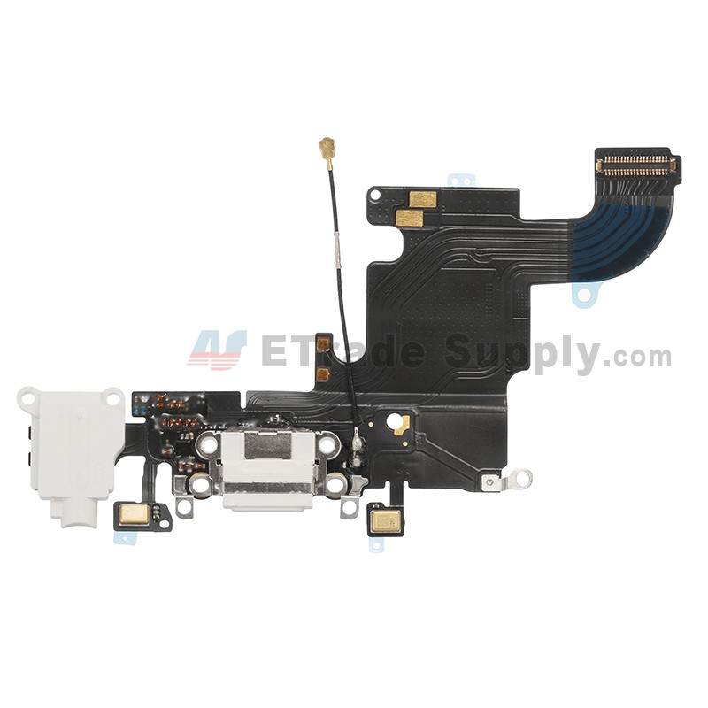 best website 23b80 d2c05 For Apple iPhone 6S Charging Port Flex Cable Ribbon Replacement - White -  Grade S+