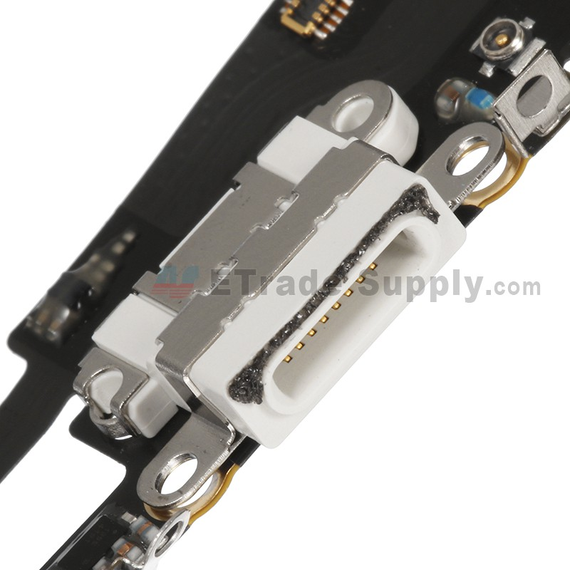 online retailer b55f1 9a589 For Apple iPhone 6S Plus Charging Port Flex Cable Ribbon Replacement -  White - Grade S+