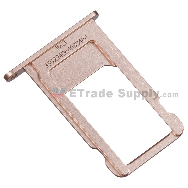 size 40 bc3b2 9cb63 For Apple iPhone 6S Plus SIM Card Tray Replacement - Rose Gold - Grade S+